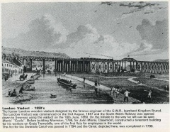 Landore Viaduct and Canal 1850s