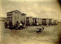Beach huts at the slip Swansea