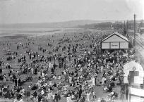 Busy Swansea beach