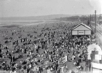 Busy Swansea beach