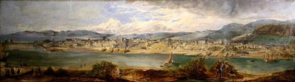 River image mid 19th Century Swansea