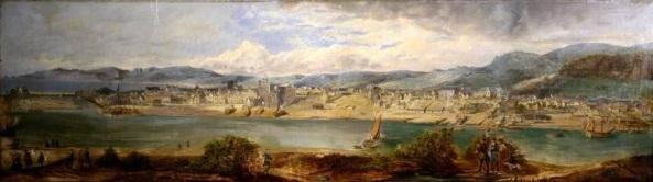 River image mid 19th Century Swansea