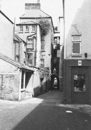 Salubrious passage Swansea 1970s