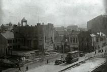 Aerial of union street swansea