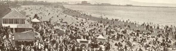 Swansea beach at the slip
