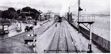 Railway at the slip bridge swansea