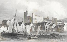 Riverside Swansea shipping castle