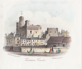 Swansea castle from the strand