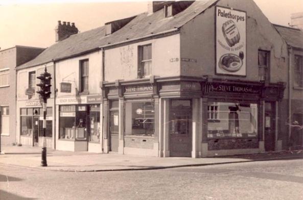Dillwyn Street 1964 butchers shop was formerly the Hotel Shakespeare